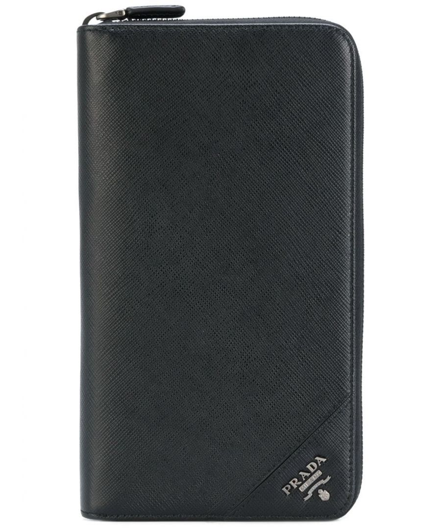 Image for PRADA MEN'S 2ML188QMEF0002 BLACK LEATHER WALLET
