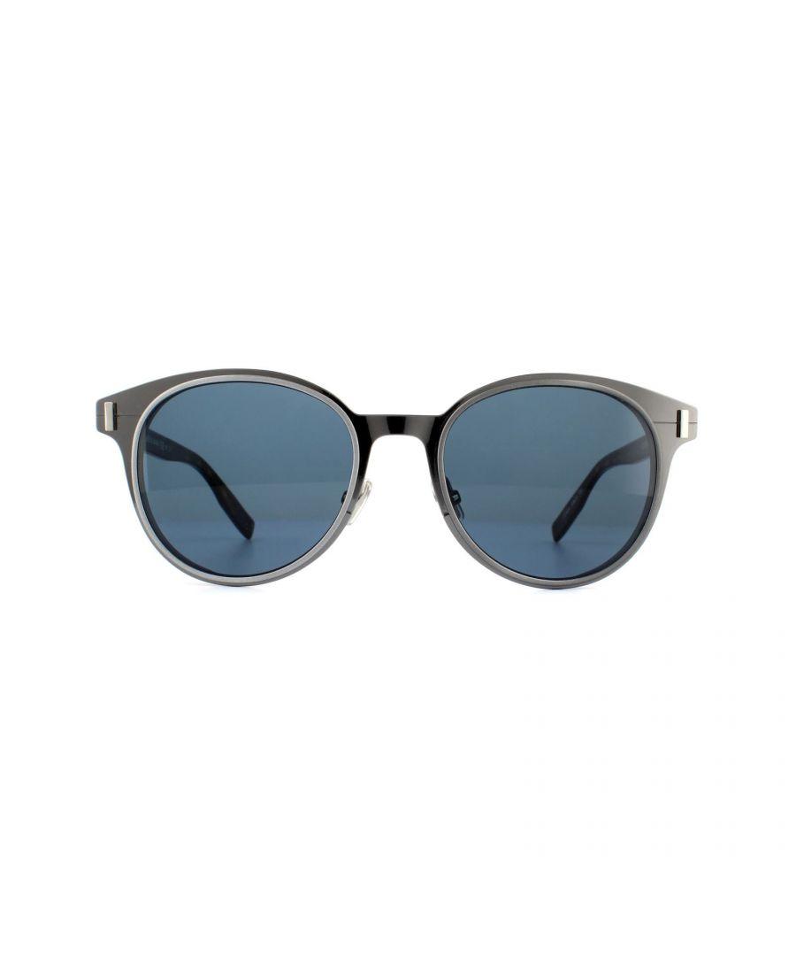 Image for Dior Sunglasses Dior Depth01 HS4 9A Ruthenium Havana Blue