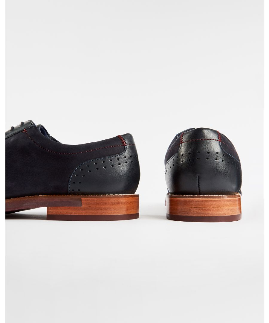 Image for Ted Baker Duglunn Mens Classic Leather Shoe, Dark Blue