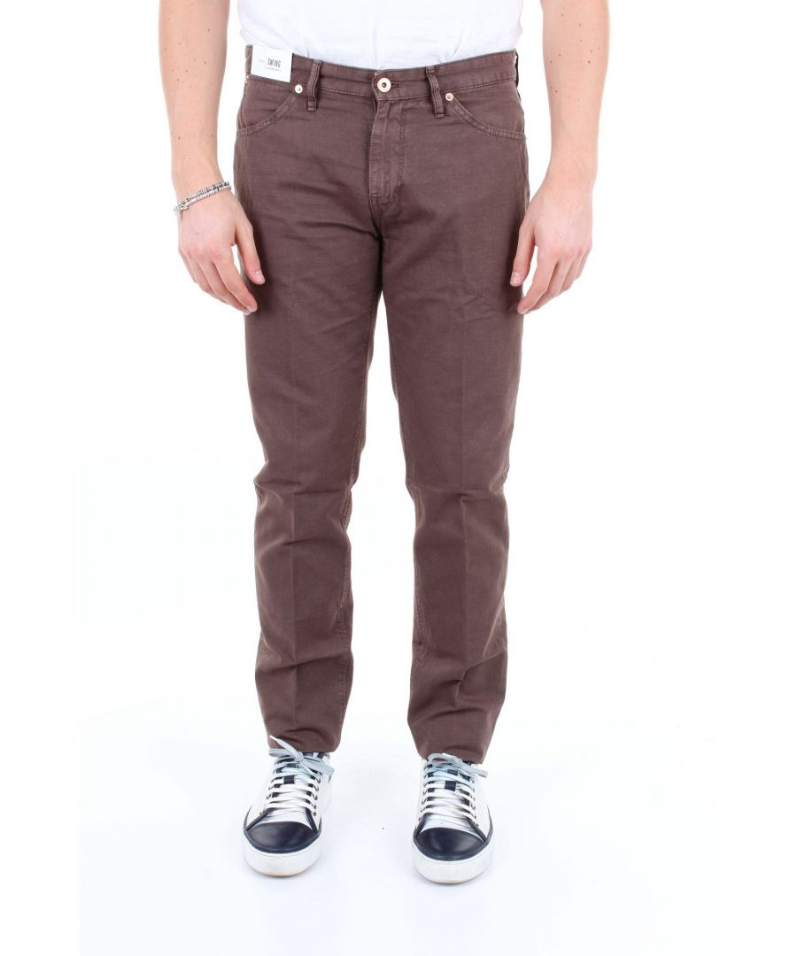 Image for PT01 MEN'S NU02DT05Z00MINMARRONE BROWN COTTON PANTS
