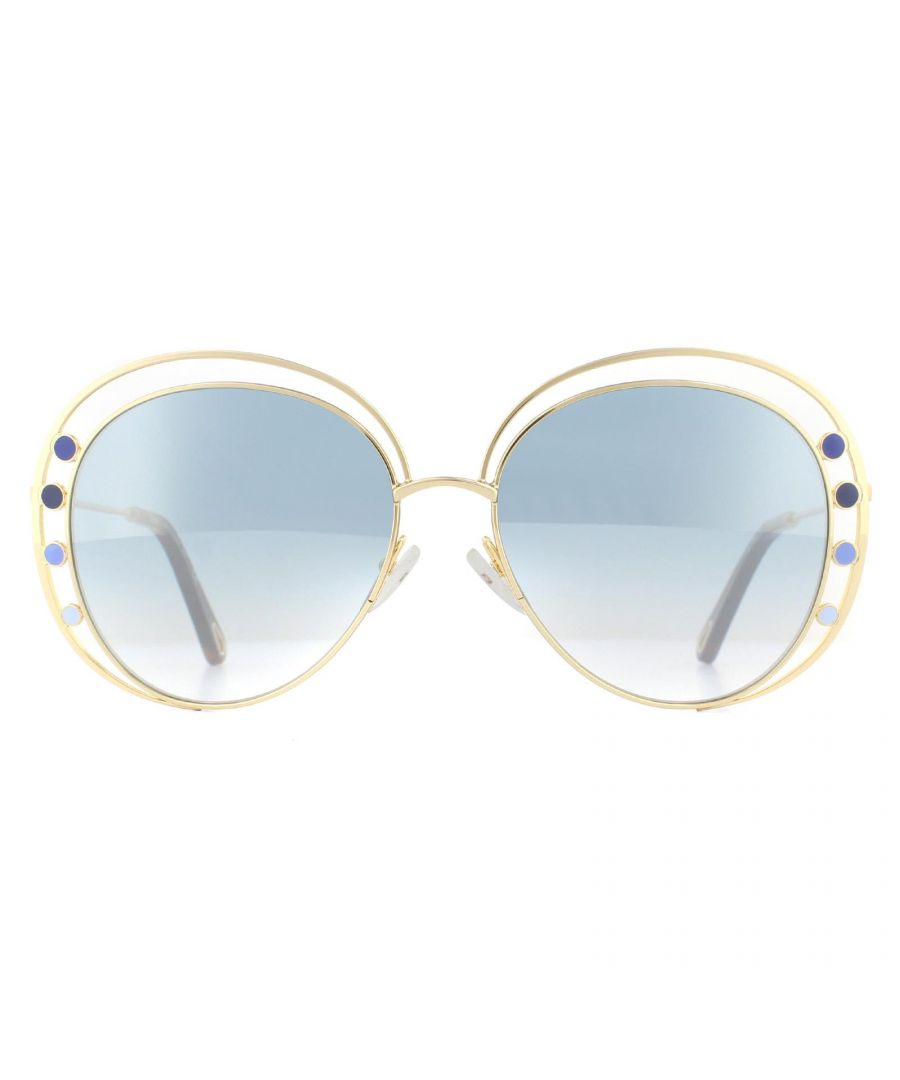 Image for Chloe Sunglasses CE169S Delilah 816 Gold Blue Flash Silver Gradient
