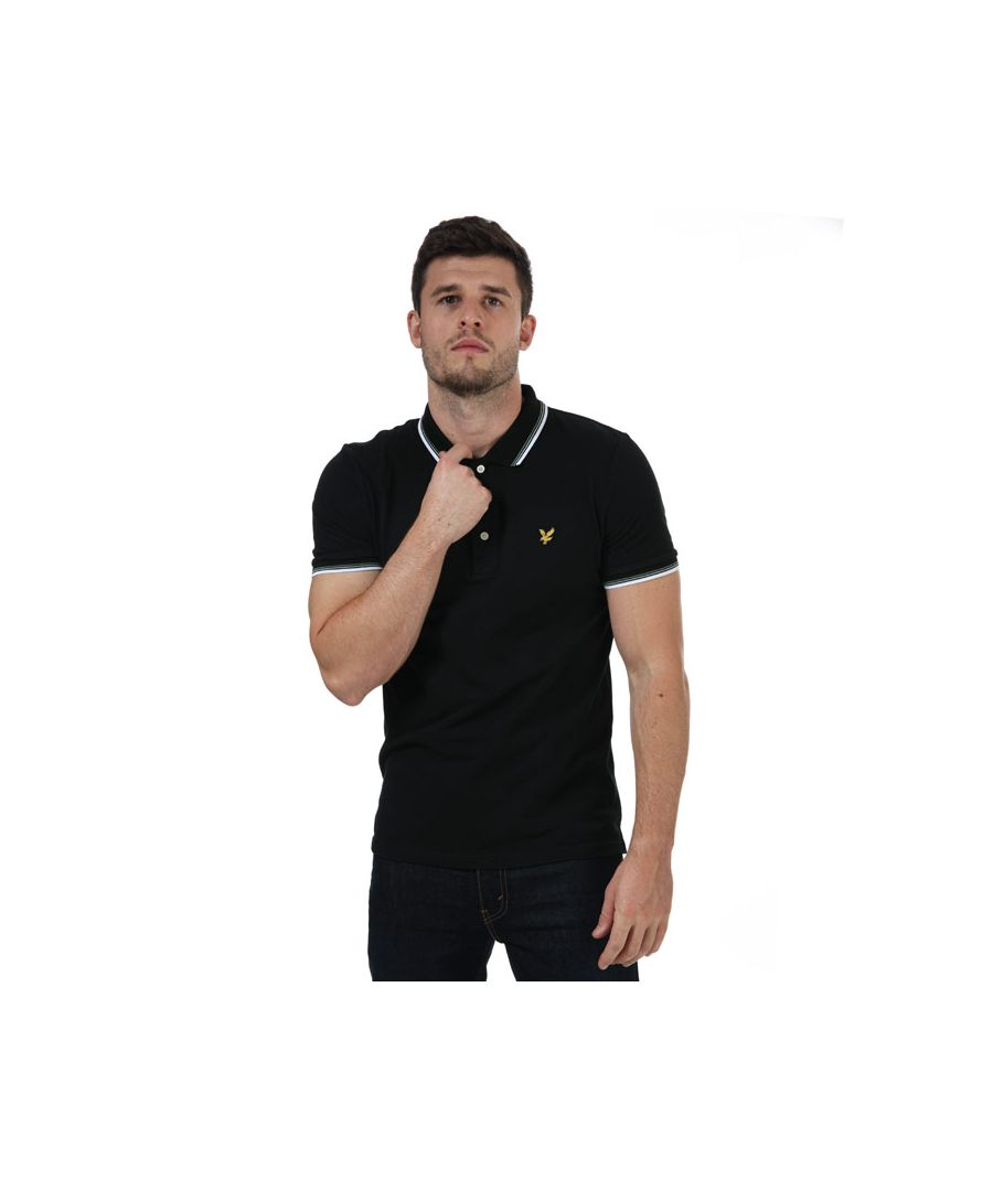Image for Men's Lyle And Scott Tipped Polo Shirt in Black-White
