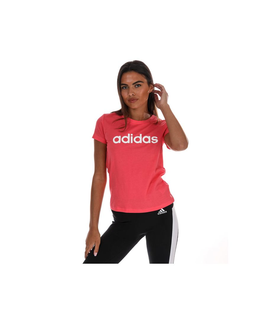 Image for Women's Adidas Essentials Linear T-Shirt In Pink