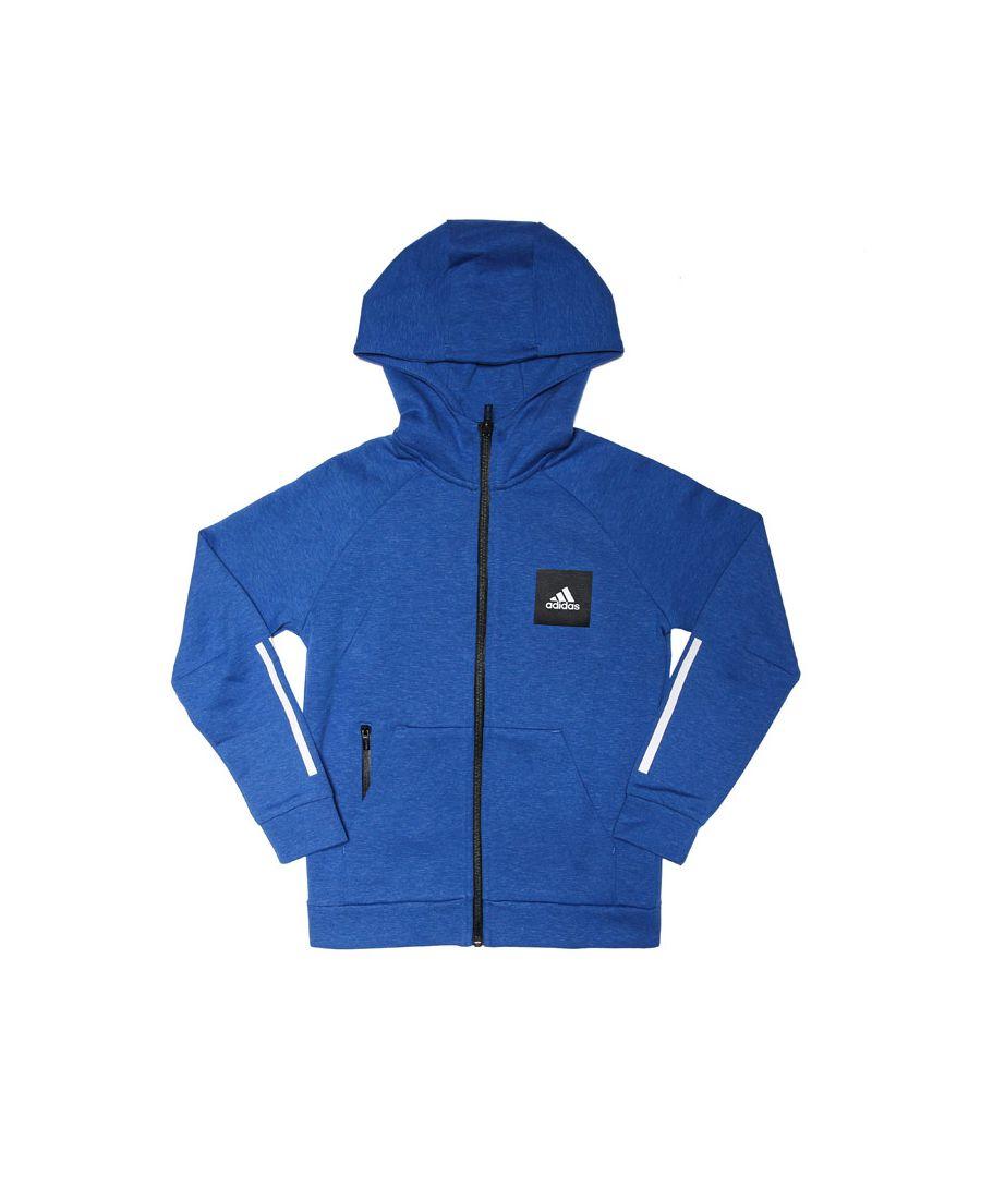 Image for Boy's adidas Junior Must Haves Zip Hoodie in Blue