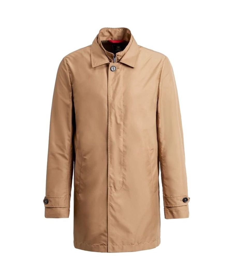 Image for FAY MEN'S NAM61400030AXXC806 BROWN POLYESTER TRENCH COAT