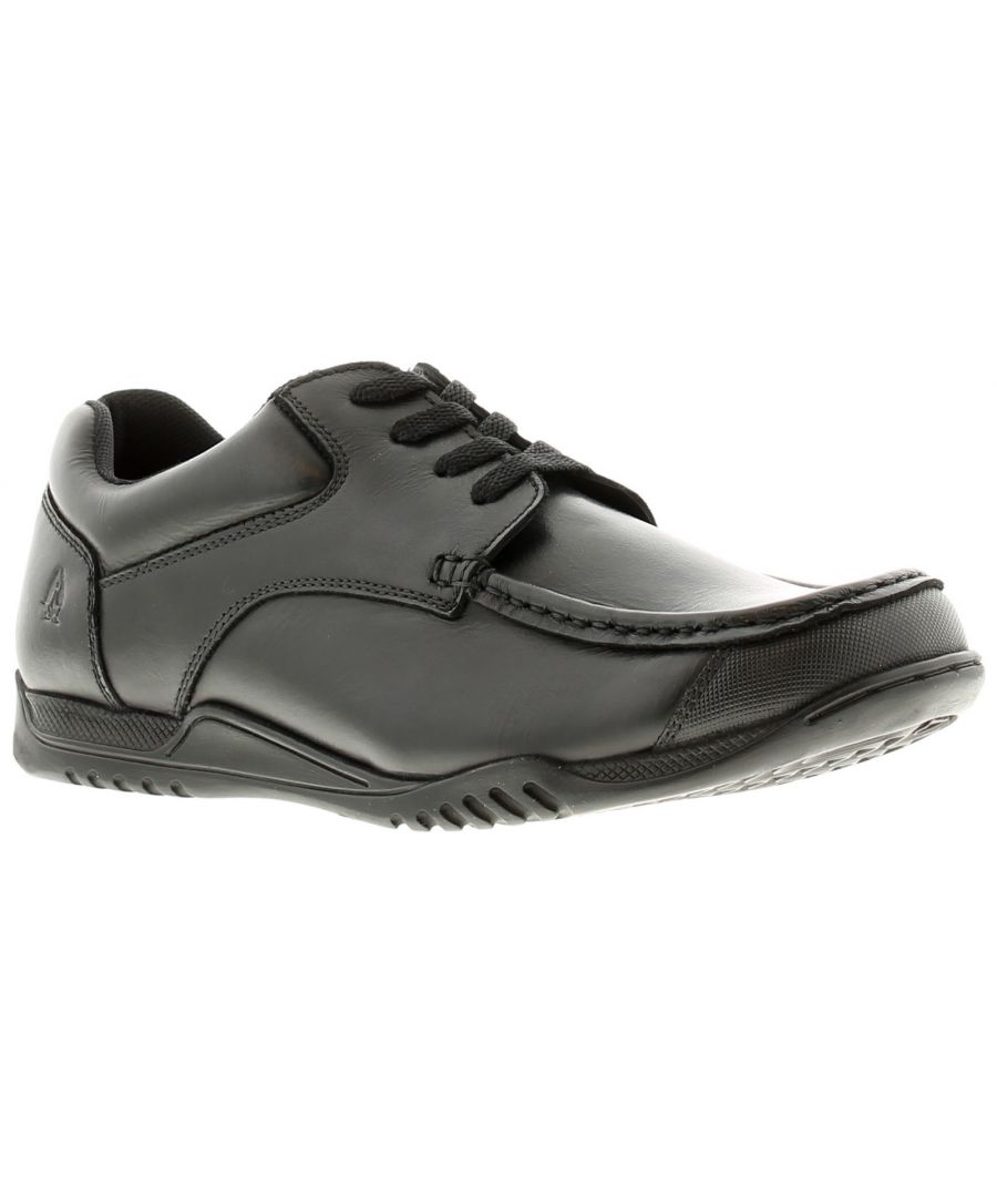 Image for Hush Puppies hudson leather Older Boys Black School Shoes & Trainers black 2 - 6