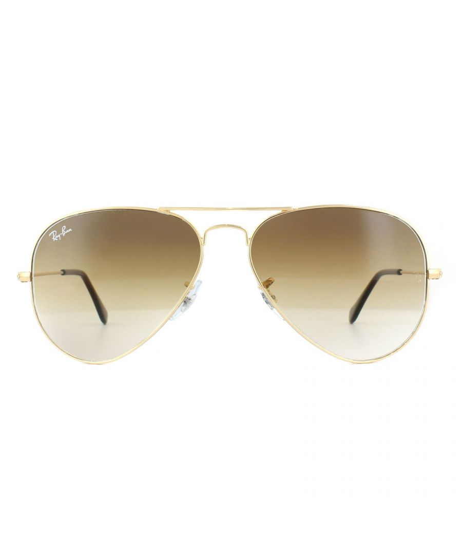 Image for Ray-Ban Sunglasses Aviator 3025 001/51 Gold Brown Shade