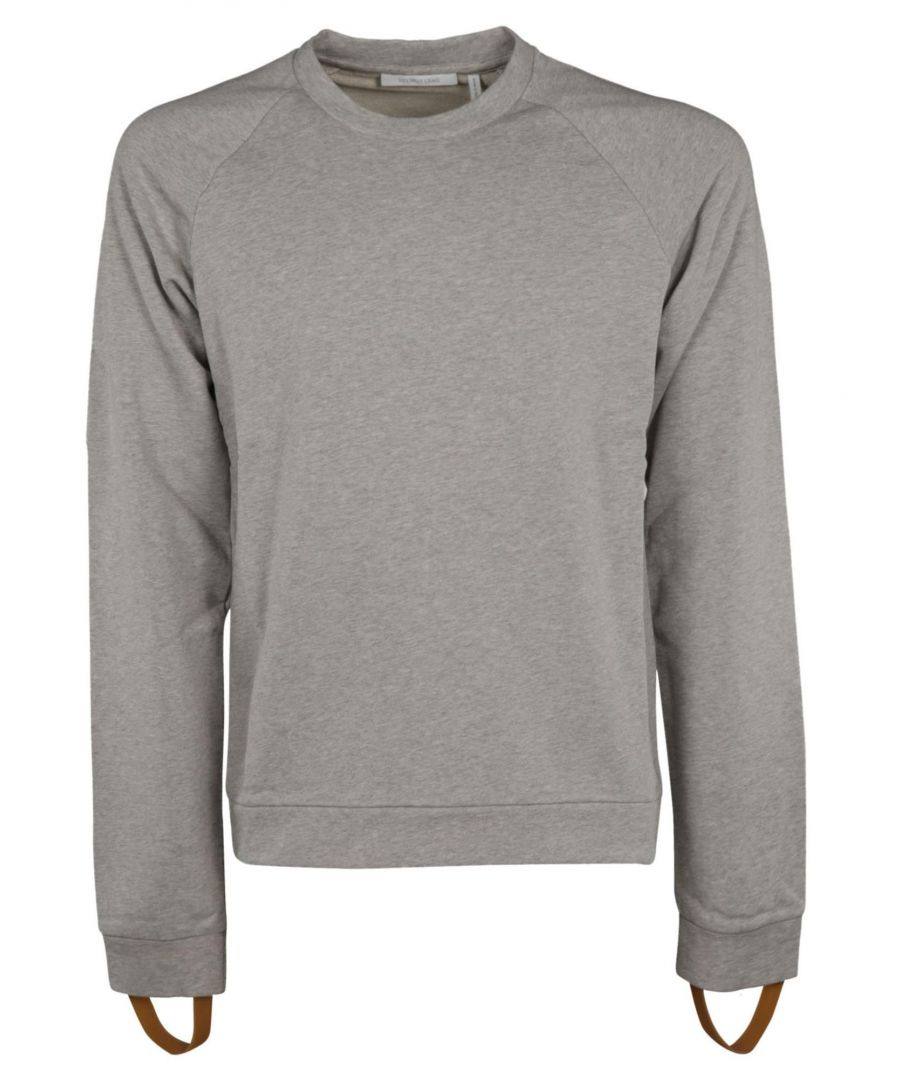 Image for HELMUT LANG MEN'S J04HM520B05 GREY COTTON SWEATSHIRT