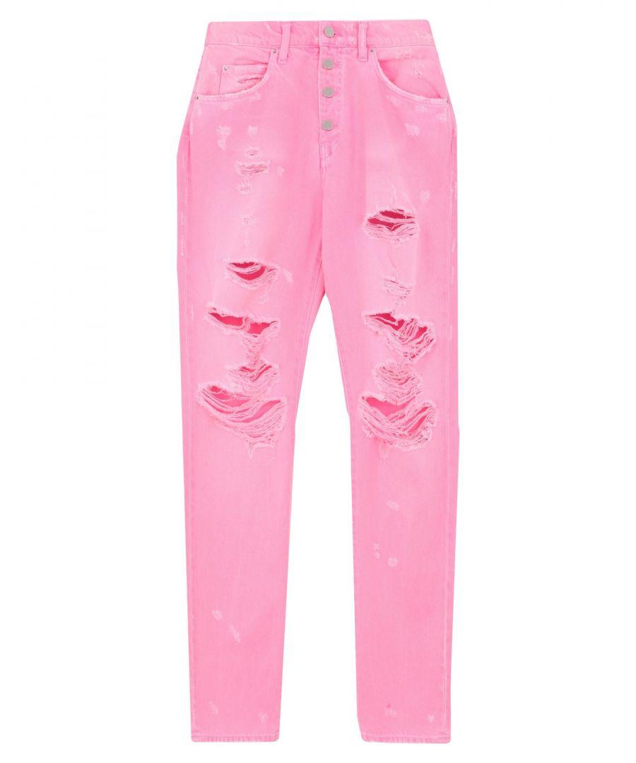 Image for Amiri Women's Denim Trousers Cotton