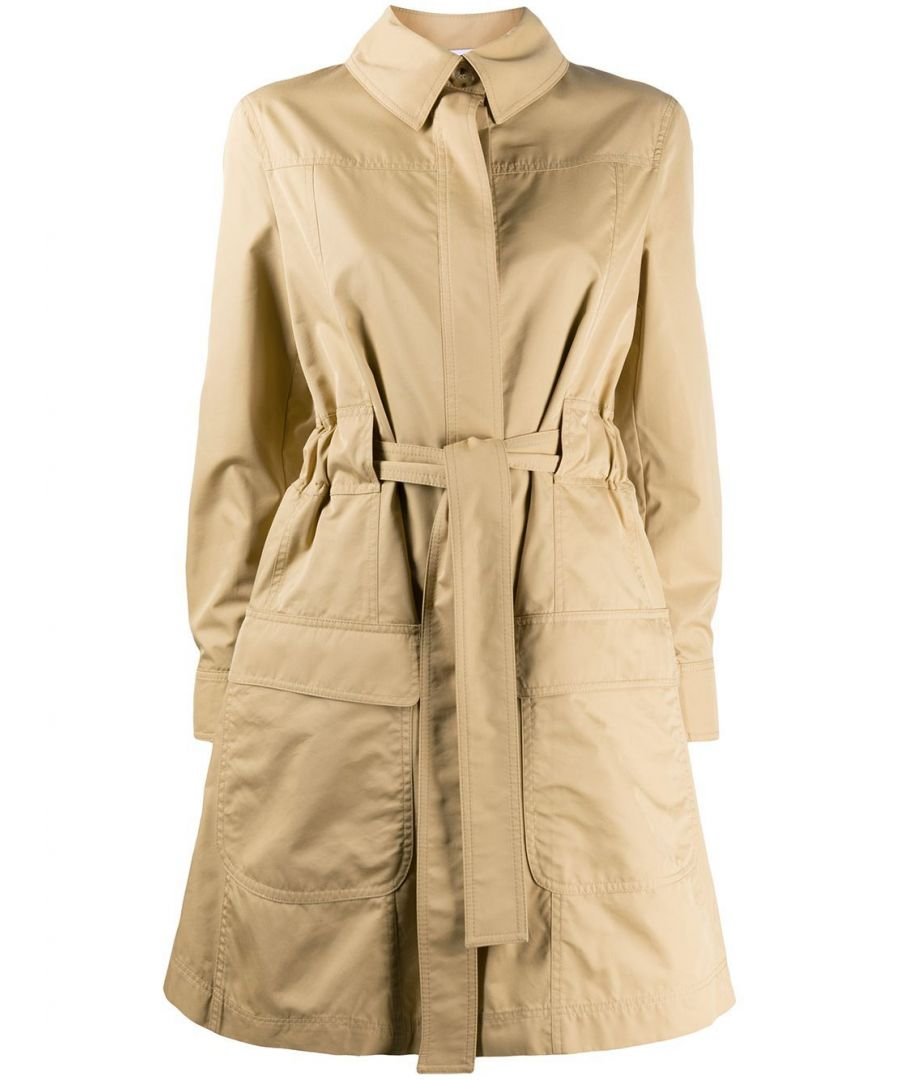 Image for MOSCHINO WOMEN'S V061505171081 BEIGE COTTON TRENCH COAT