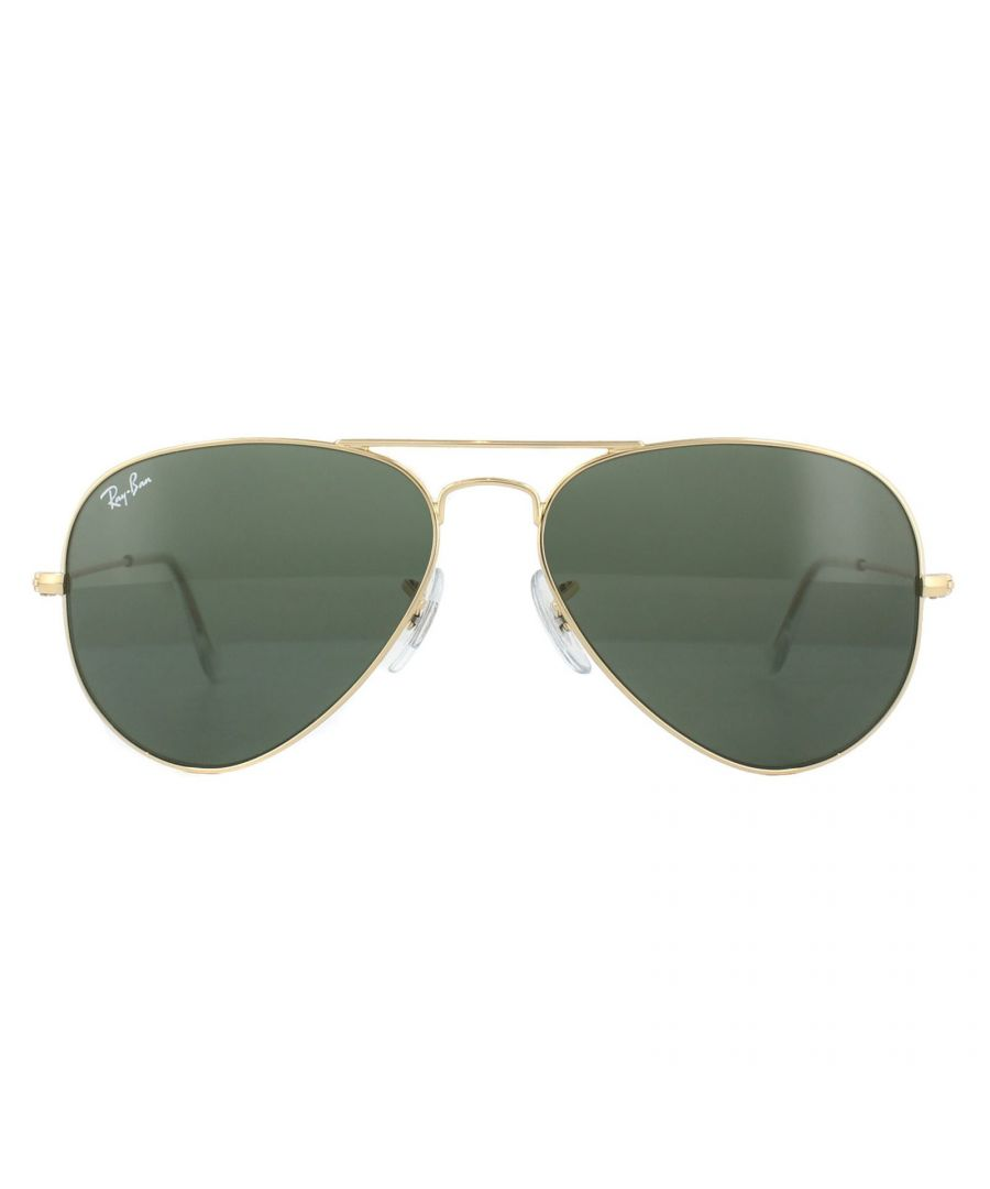 Image for Ray-Ban Sunglasses Aviator 3025 W3234 Gold Green