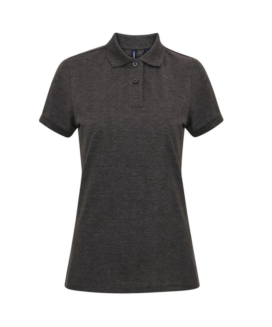 Image for Asquith & Fox Womens/Ladies Short Sleeve Performance Blend Polo Shirt (Charcoal)