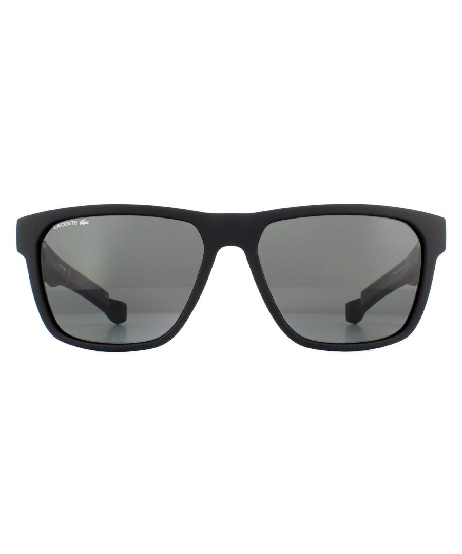 Image for Lacoste Sunglasses L869SP 002 Matte Black Gray Polarized