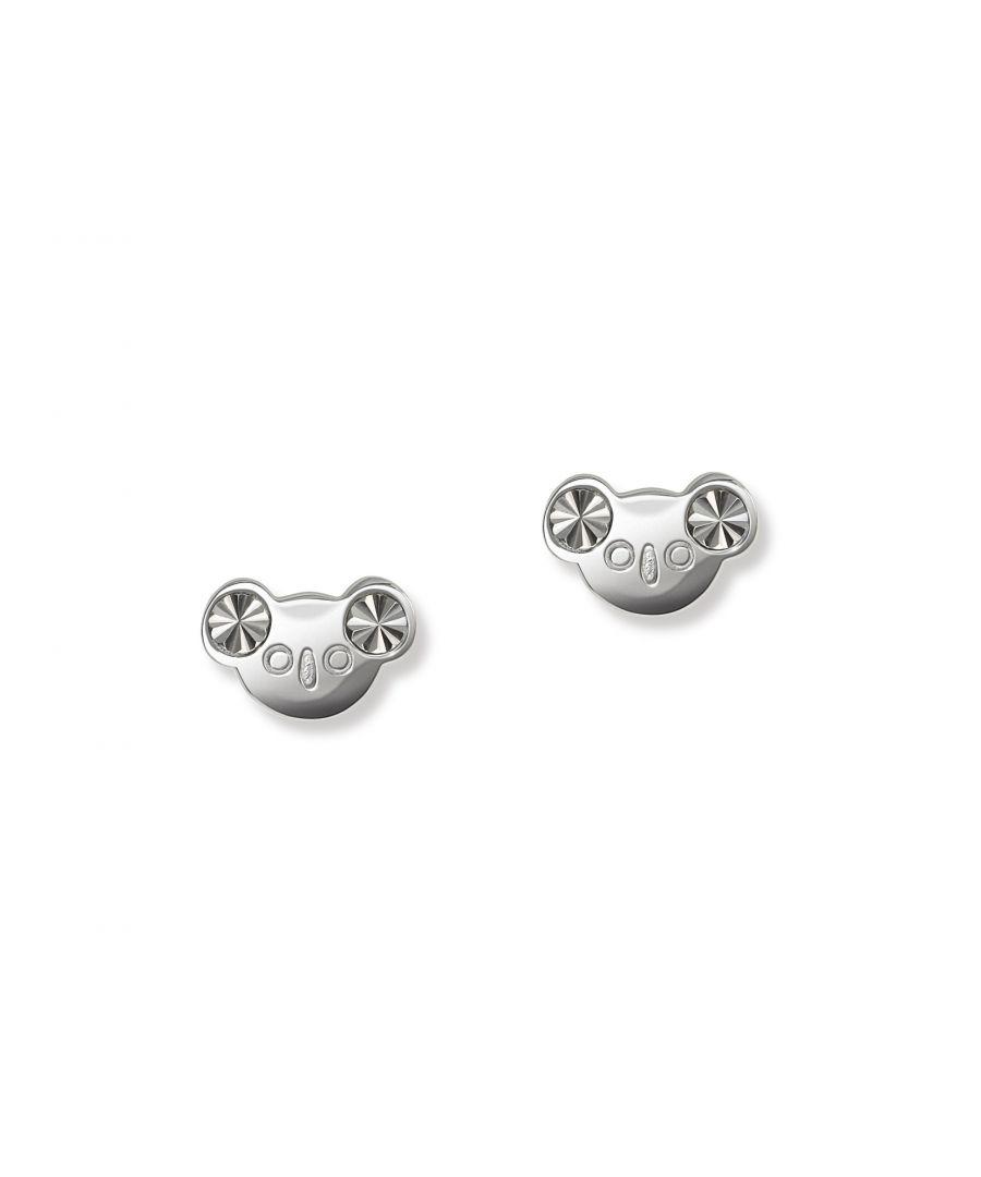 Image for Sterling silver koala bear stud earrings