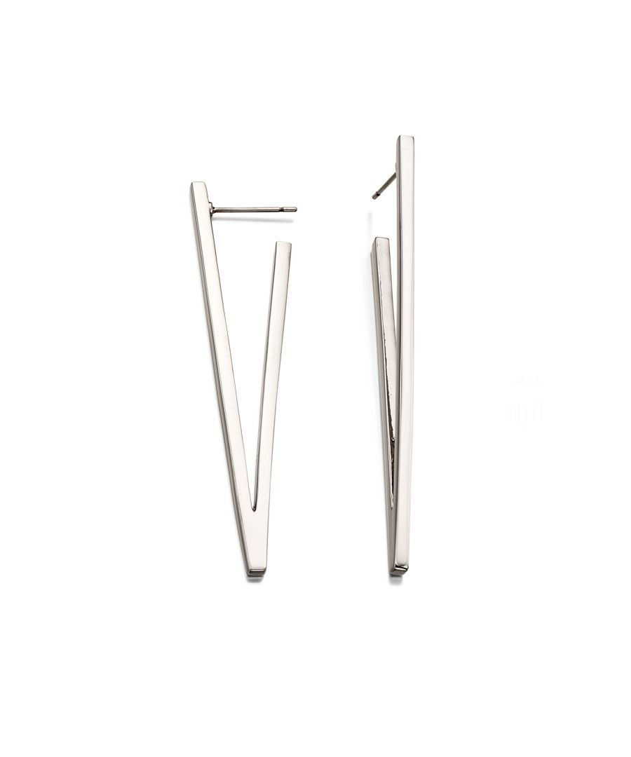 Image for Fiorelli Fashion Imitation Rhodium Plated V Shape Bar Earrings