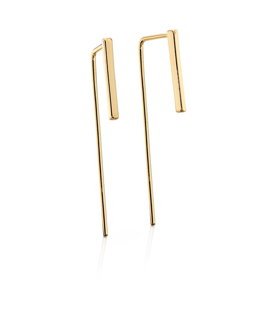 Image for Fiorelli Fashion Gold Pated Pull Through Bar Earrings
