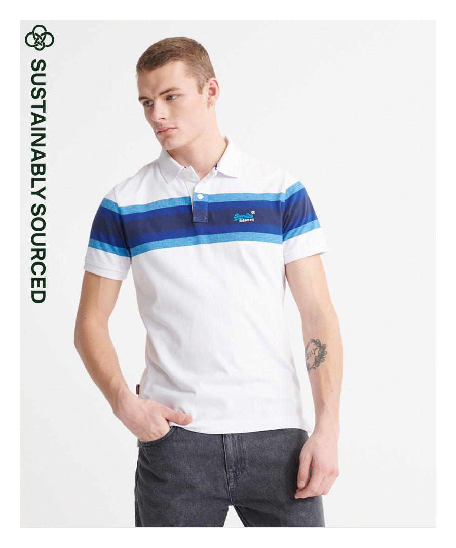 Image for Superdry Organic Cotton Malibu Stripe Polo Shirt