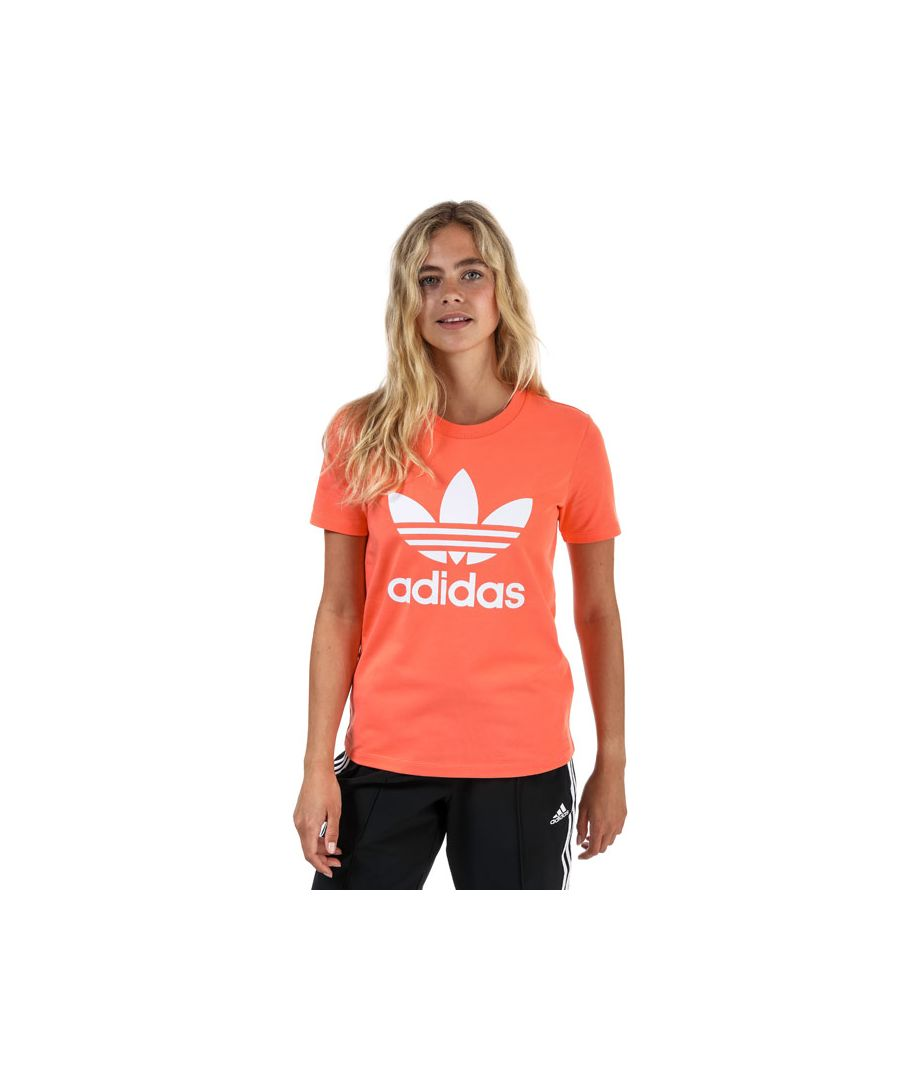 Image for Women's adidas Originals Trefoil T-Shirt in Coral