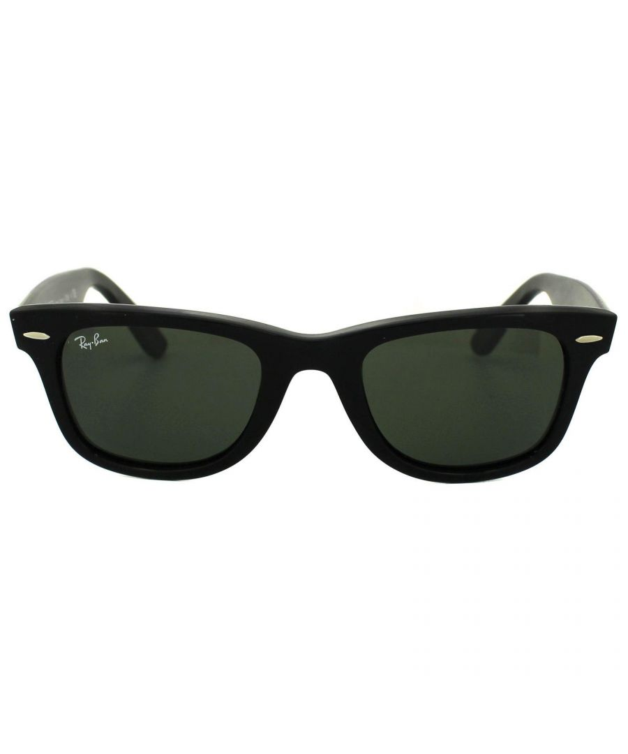 Image for Ray-Ban Sunglasses Wayfarer 2140 901 Black Green G-15 Medium 50mm