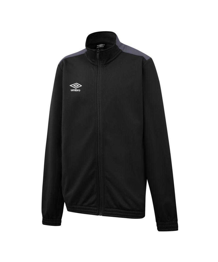 Image for Umbro Boys Knitted Jacket (Black/Carbon Grey)