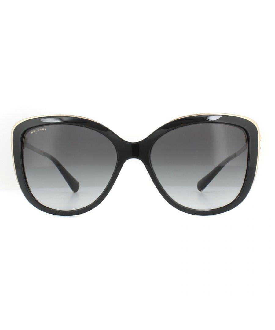 Image for Bvlgari Sunglasses BV6094B 20148G Black Grey Gradient