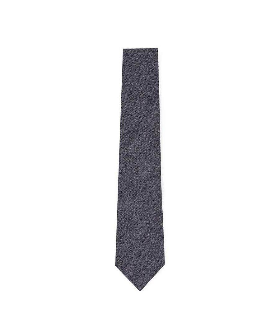 Image for Men's Hackett Silk & Wool Solid Tie in Charcoal