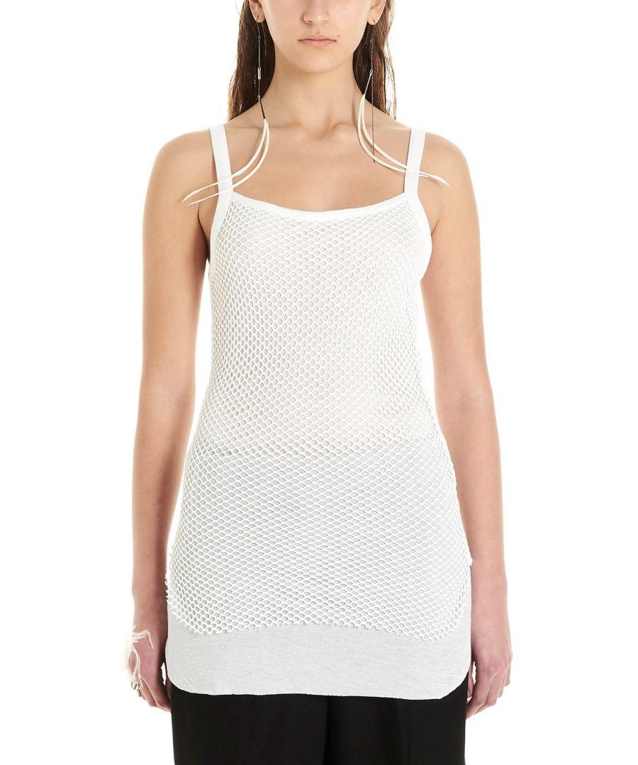 Image for ANN DEMEULEMEESTER WOMEN'S 20012406P230001 WHITE MODAL TANK TOP