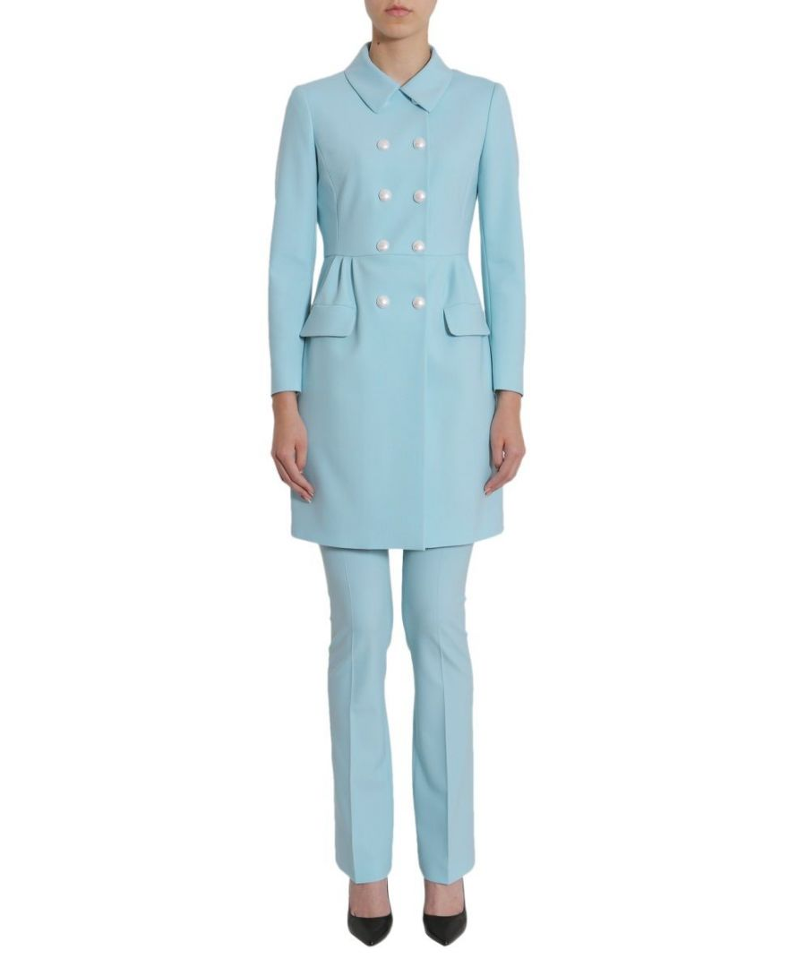Image for BOUTIQUE MOSCHINO WOMEN'S A060711201332 LIGHT BLUE POLYESTER COAT