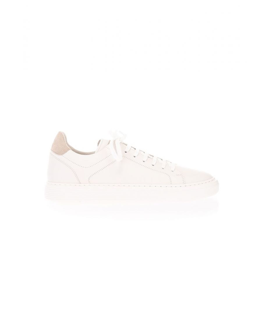 Image for BRUNELLO CUCINELLI MEN'S MZUBTSJ233CK828 WHITE LEATHER SNEAKERS