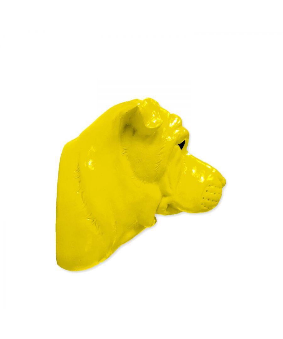 Image for Animal Coat Hook - Bull Dog - Yellow