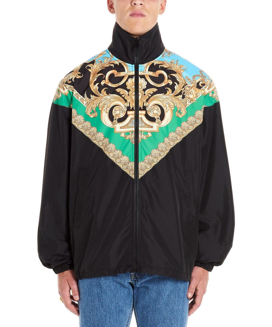 Image for VERSACE MEN'S A83681A231421A78Y BLACK POLYESTER OUTERWEAR JACKET