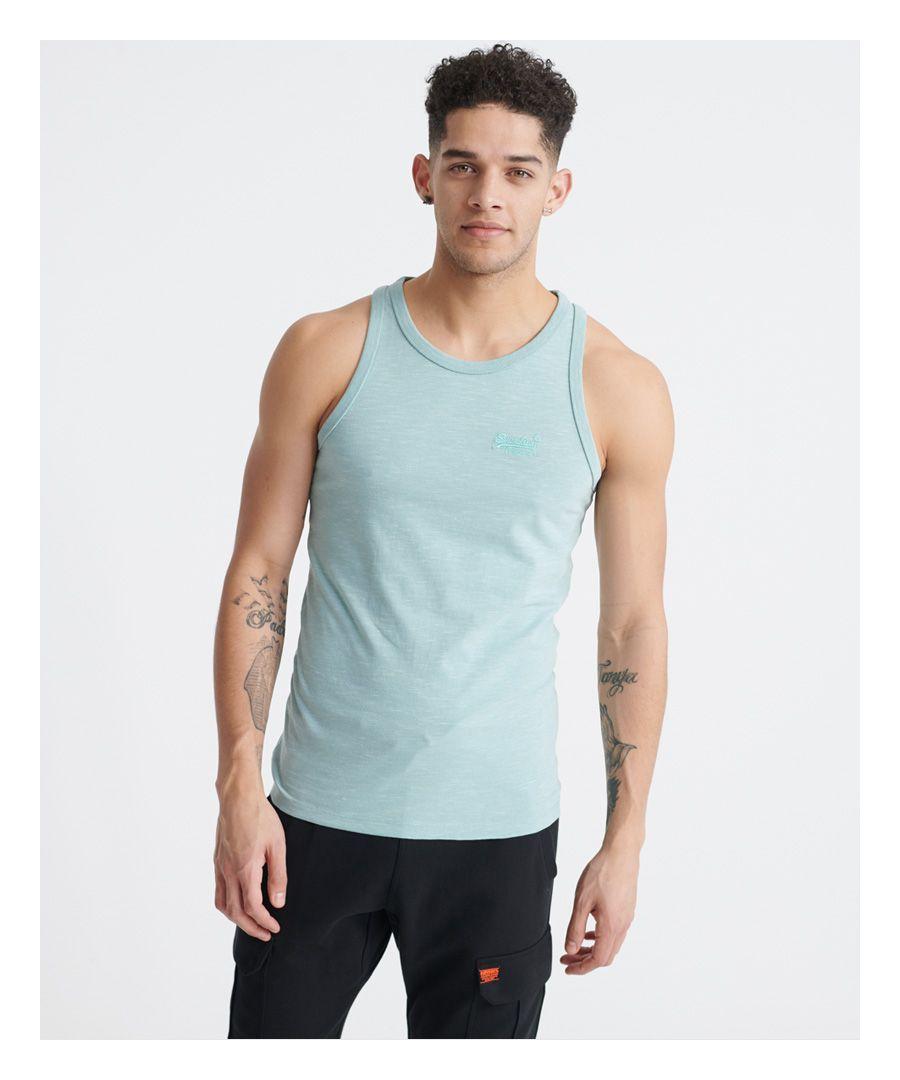 Image for Superdry Orange Label Vintage Embroidery Vest Top