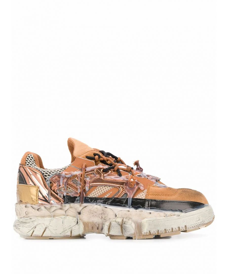 Image for MAISON MARGIELA MEN'S S57WS0257P3260H8049 BROWN LEATHER SNEAKERS