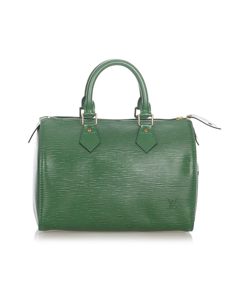 Image for Vintage Louis Vuitton Epi Speedy 25 Green