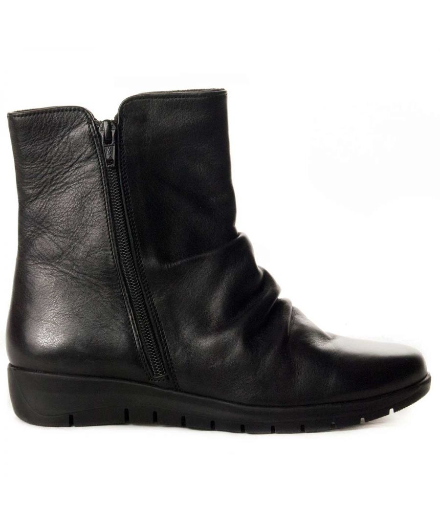 Image for Purapiel Wedge Ankle Boot in Black