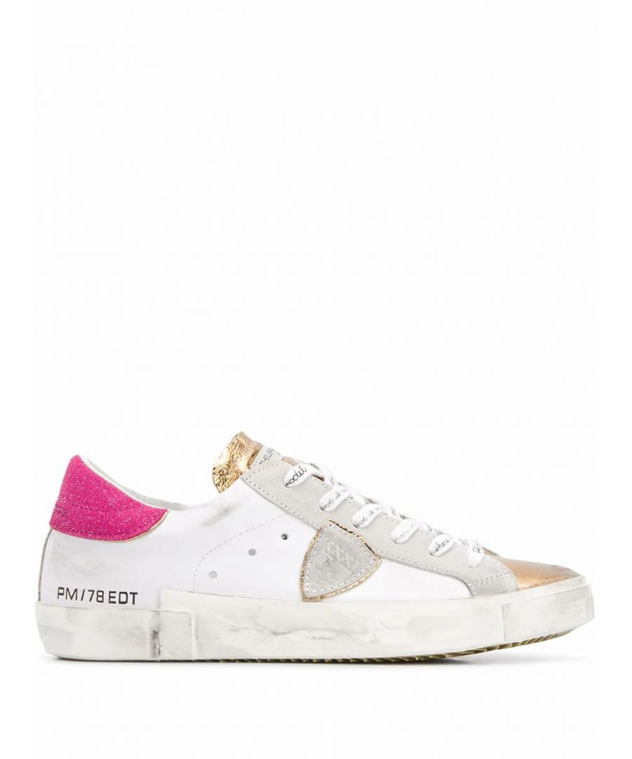 Image for PHILIPPE MODEL WOMEN'S PRLDVQ03 WHITE LEATHER SNEAKERS