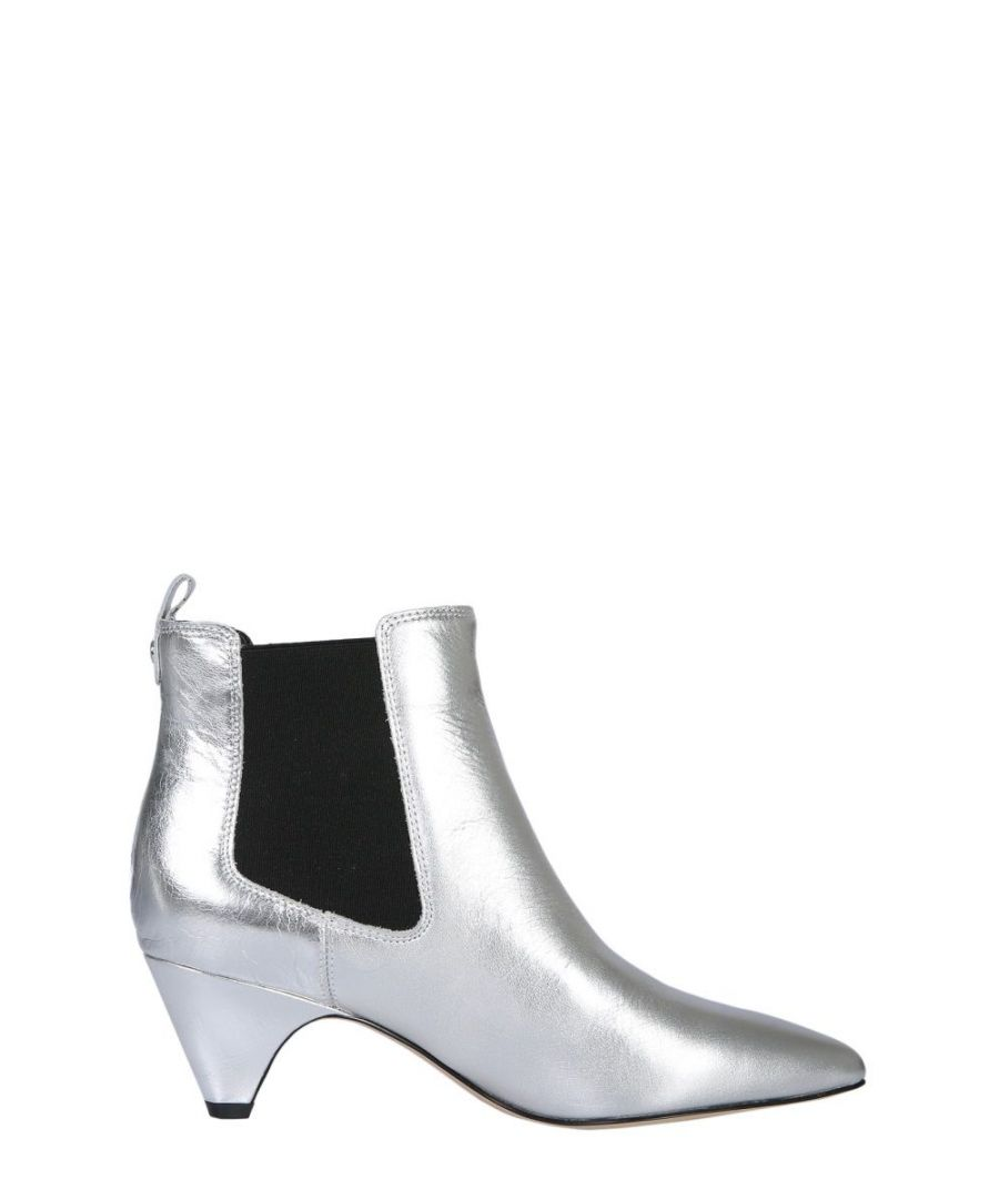 Image for SAM EDELMAN WOMEN'S F9043L1900SILVER SILVER LEATHER ANKLE BOOTS