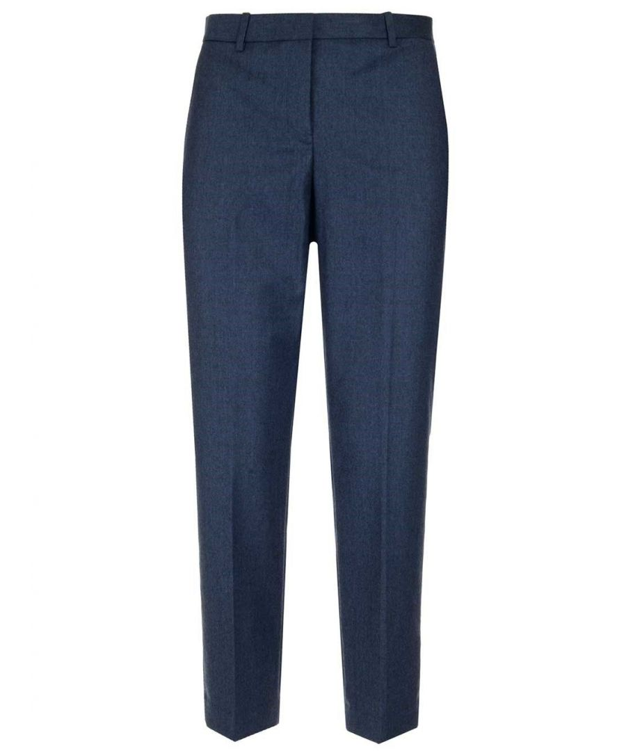 Image for THEORY WOMEN'S J0801203YK6 BLUE WOOL PANTS