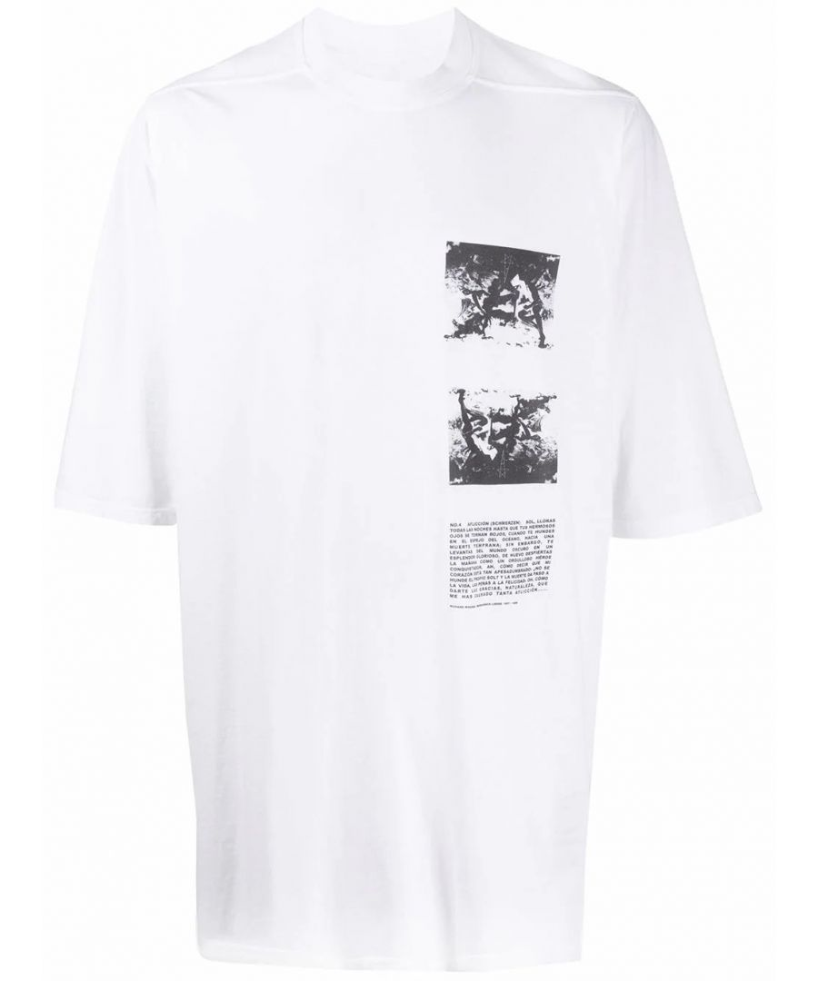 Image for DRKSHDW BY RICK OWENS MEN'S DU20S5274RNEP211009 WHITE COTTON T-SHIRT