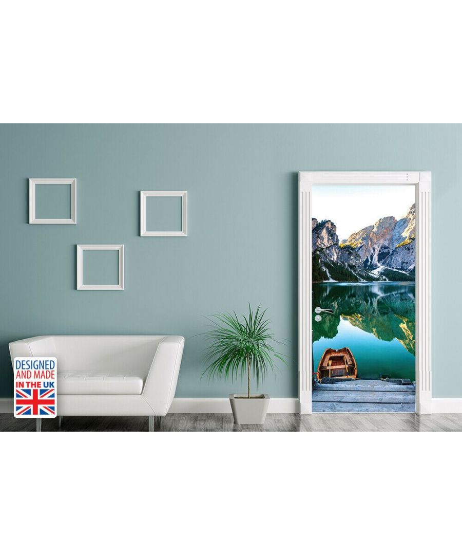 Image for Mountain Lake Self-Adhesive Door Mural Sticker For All Europe Size 90Cm X 200Cm