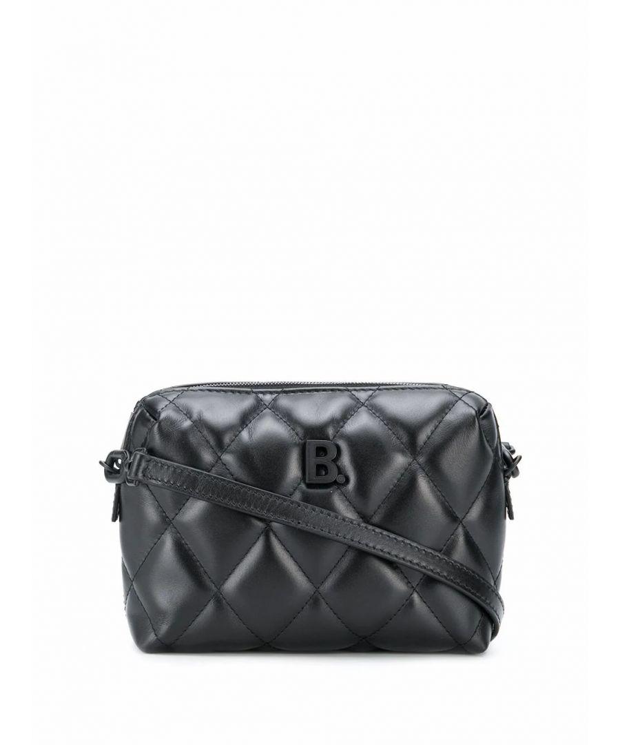 Image for BALENCIAGA WOMEN'S 6160601WN171000 BLACK LEATHER SHOULDER BAG