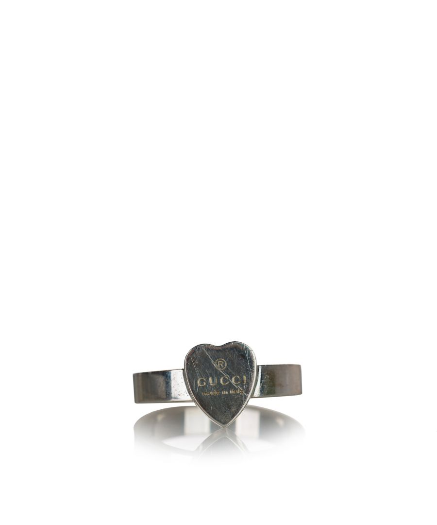 Image for Vintage Gucci Heart Ring Silver