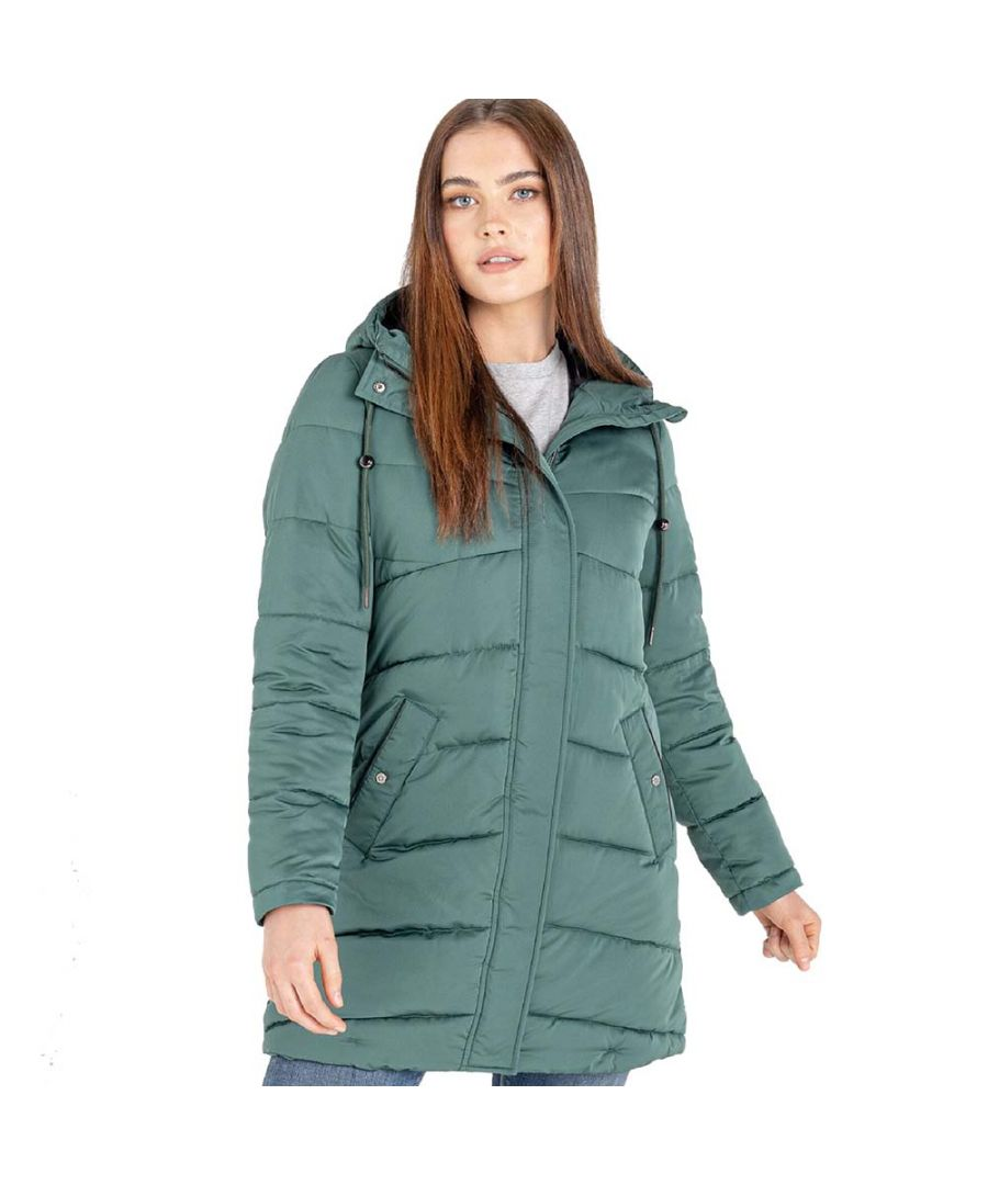 Image for Dare 2b Womens Reputable Padded Hooded Insulated Coat