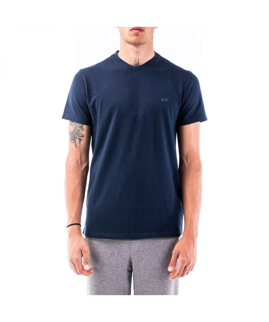 Image for SUN 68 MEN'S T3010907 BLUE COTTON T-SHIRT