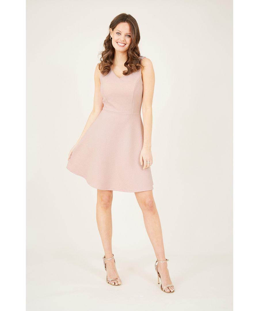 Image for Mela Pink Skater Dress
