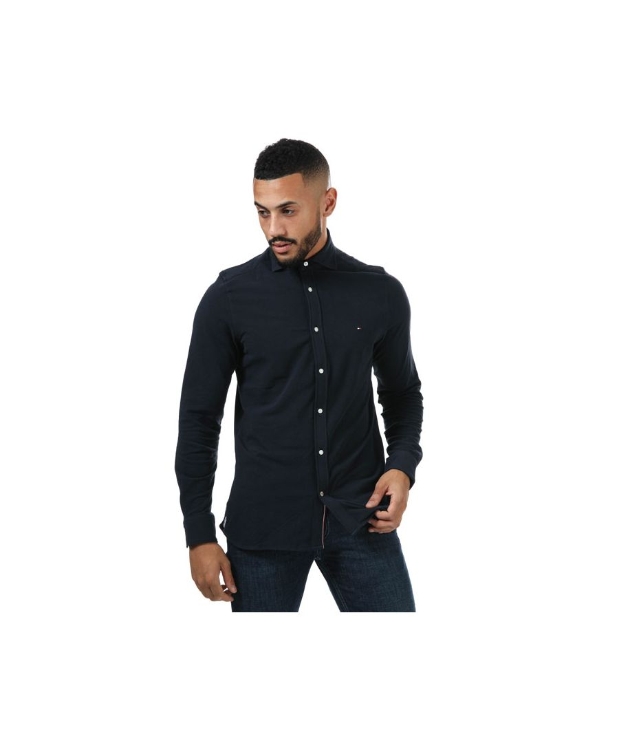 Image for Men's Tommy Hilfiger Long Sleeve Shirt in Navy