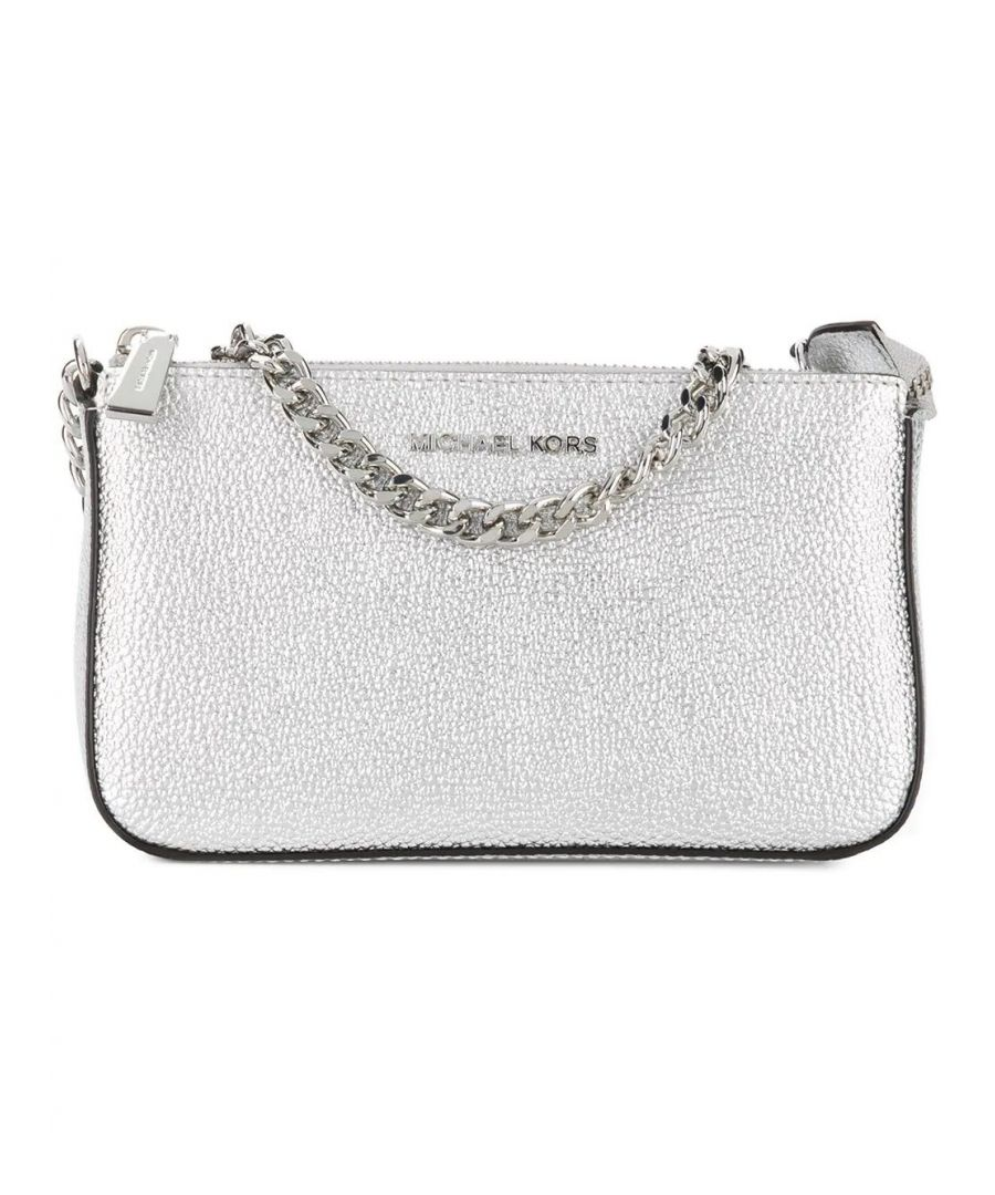 Image for MICHAEL KORS WOMEN'S 32F7MFDW6M040 SILVER LEATHER POUCH