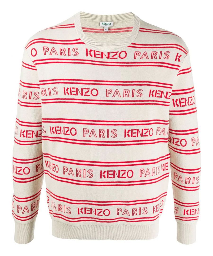 Image for KENZO MEN'S FA55PU5063LD02 WHITE COTTON SWEATER