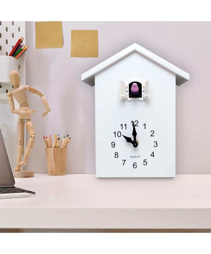 Image for Walplus White Cuckoo Clock - White Window wall clock, wall clock vintage 20 cm x 25 cm x 10 cm 1 piece