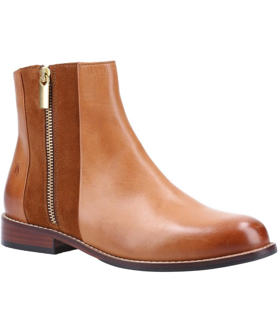 Image for Hush Puppies Womens/Ladies Frances Leather Ankle Boots (Tan)